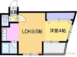 札幌市厚別区厚別東2条1丁目0賃貸マンション間取図面