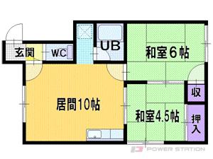 札幌市厚別区厚別東2条6丁目0賃貸マンション間取図面