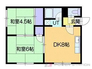 新さっぽろ2DKアパート図面
