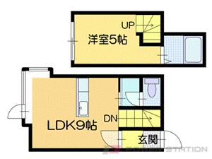 札幌市厚別区厚別中央4条2丁目1賃貸アパート間取図面