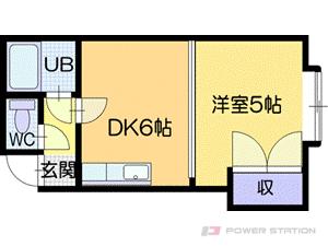 新札幌1DKアパート図面