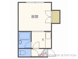 新札幌1Kアパート図面