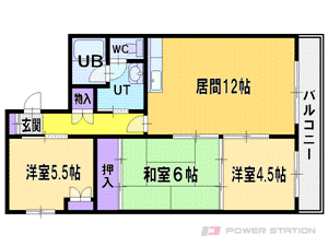 札幌市厚別区厚別中央2条5丁目0賃貸マンション間取図面