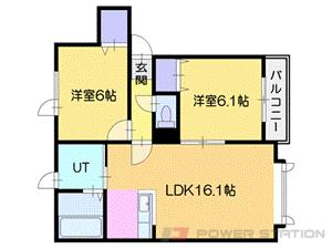 札幌市厚別区厚別東1条2丁目0賃貸アパート間取図面