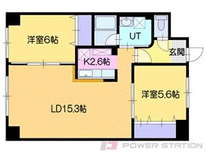 札幌市厚別区厚別東1条4丁目0賃貸マンション間取図面