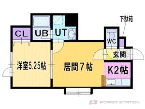 札幌市厚別区厚別西2条4丁目0賃貸アパート間取図面
