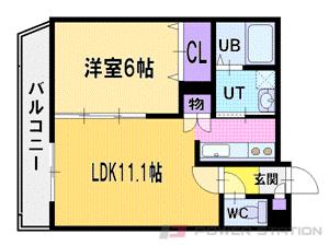 札幌市厚別区厚別中央1条3丁目0賃貸マンション間取図面