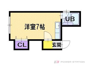 札幌市厚別区厚別中央1条3丁目0賃貸アパート間取図面