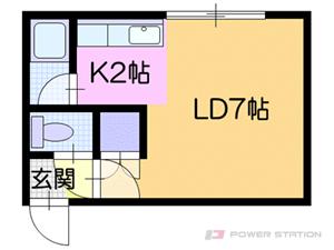 札幌市厚別区厚別南1丁目1賃貸アパート間取図面