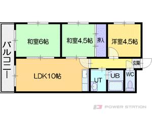 札幌市厚別区厚別南1丁目1賃貸マンション間取図面