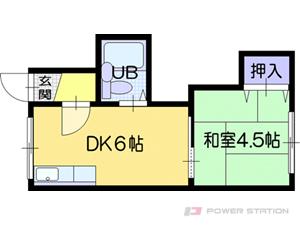 札幌市厚別区厚別南1丁目0賃貸アパート間取図面
