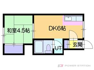 ひばりが丘1DKアパート図面