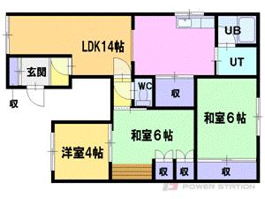 札幌市厚別区厚別南2丁目0賃貸アパート間取図面