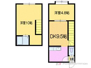 札幌市厚別区厚別南3丁目0賃貸アパート間取図面