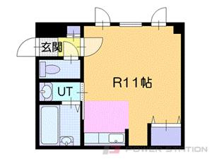 新さっぽろ1Rマンション図面