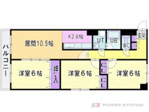 札幌市厚別区青葉町12丁目0賃貸マンション間取図面