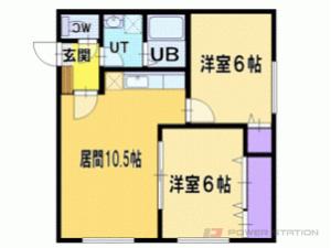 札幌市厚別区厚別南4丁目0賃貸マンション間取図面