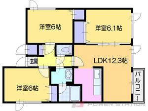 札幌市厚別区厚別南4丁目0賃貸アパート間取図面