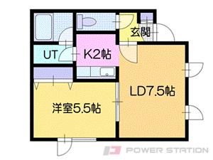 札幌市厚別区青葉町15丁目0賃貸アパート間取図面