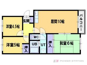 札幌市厚別区大谷地西1丁目1賃貸マンション間取図面