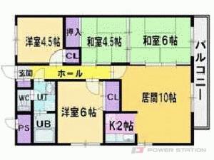 大谷地4LDKマンション図面