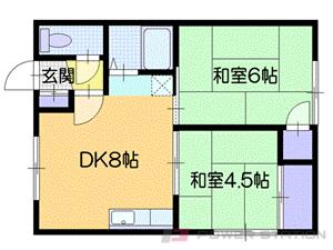 札幌市厚別区大谷地東5丁目0賃貸アパート間取図面