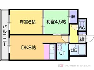札幌市厚別区大谷地東3丁目0賃貸マンション間取図面