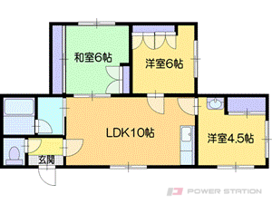 札幌市厚別区大谷地西6丁目0賃貸アパート間取図面