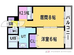札幌市厚別区大谷地西6丁目1賃貸マンション間取図面
