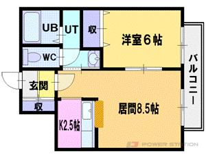 札幌市厚別区大谷地西6丁目0賃貸マンション間取図面