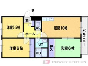 札幌市厚別区大谷地西5丁目0賃貸マンション間取図面