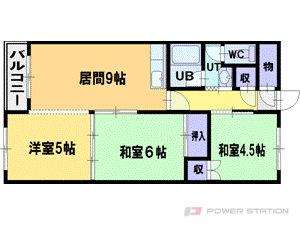札幌市厚別区大谷地東2丁目0賃貸マンション間取図面