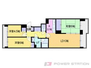 大谷地3LDK分譲リースマンション図面