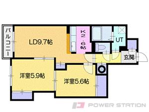 札幌市厚別区厚別中央1条7丁目1賃貸マンション間取図面