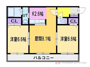 札幌市厚別区厚別町上野幌1賃貸マンション間取図面