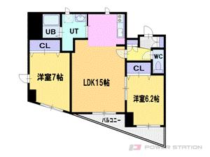 札幌市厚別区厚別東1条2丁目0賃貸マンション間取図面