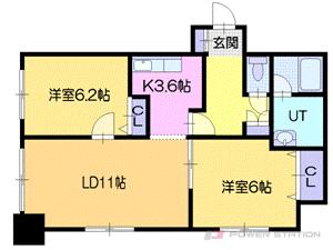 札幌市厚別区厚別東3条4丁目0賃貸マンション間取図面