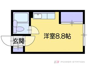札幌市厚別区厚別南2丁目1賃貸アパート間取図面