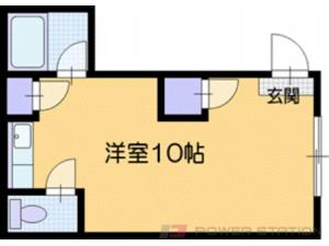 札幌市厚別区厚別南2丁目0賃貸マンション間取図面