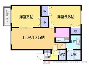 札幌市厚別区厚別北3条5丁目0賃貸アパート間取図面