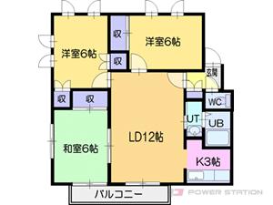 札幌市厚別区上野幌1条1丁目1賃貸アパート間取図面
