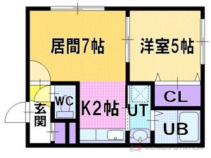 札幌市厚別区厚別中央3条5丁目1賃貸マンション間取図面