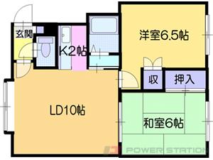 札幌市厚別区厚別中央3条3丁目0賃貸アパート間取図面