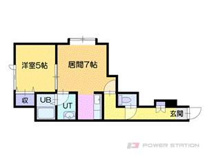 札幌市厚別区厚別西3条3丁目0賃貸アパート間取図面
