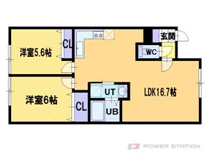 札幌市厚別区厚別西1条1丁目0賃貸アパート間取図面