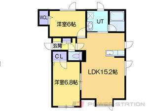 札幌市厚別区厚別東5条8丁目0賃貸アパート間取図面