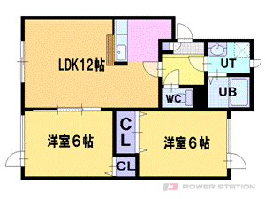 札幌市厚別区もみじ台北6丁目0賃貸アパート間取図面
