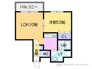 札幌市厚別区厚別中央5条5丁目1賃貸マンション間取図面