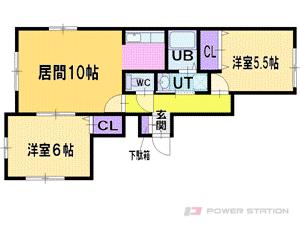 札幌市厚別区厚別東4条6丁目0賃貸アパート間取図面