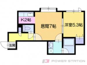 札幌市厚別区厚別東1条4丁目0賃貸アパート間取図面